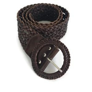 American Eagle Womans Belt Size M/L Brown Braided